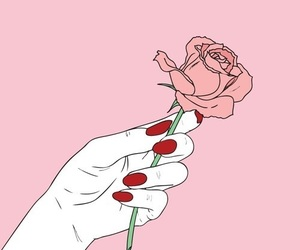 alternative, nails, and pink image