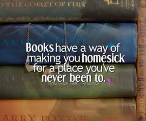 book, homesick, and harry potter image