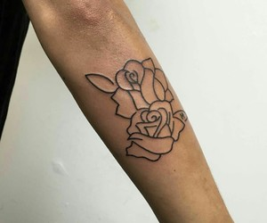 tattoo, rose, and ink image