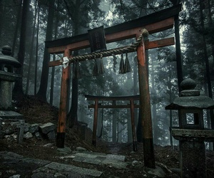 black, dark, and japan image