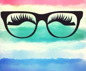 wallpaper, eyes, and glasses image