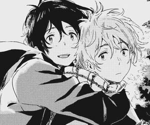 black and white, yaoi, and manga boy image