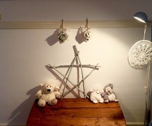 bedroom, star, and wood image