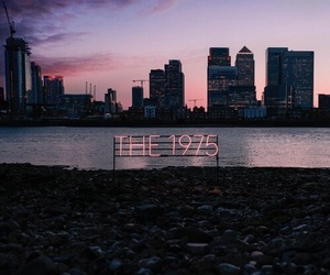 the 1975, city, and pink image