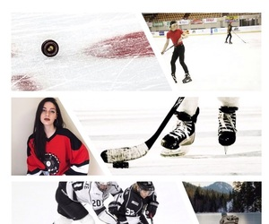 background, hockey, and Ice Hockey image