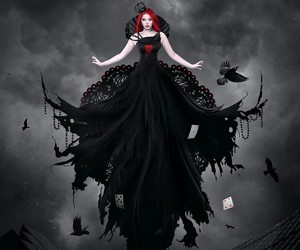 black and red image
