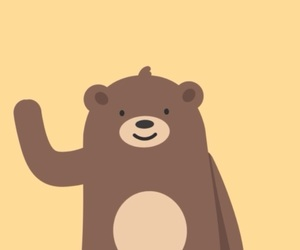 adorable, bear, and wave image