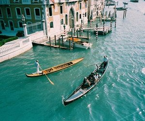 venice, boat, and travel image