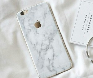 iphone, apple, and marble image