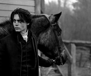 johnny depp, horse, and sleepy hollow image