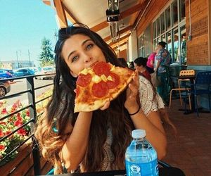 eating, hungry, and pepperoni image