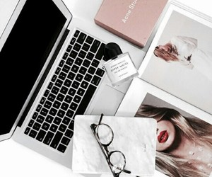 glasses and laptop image