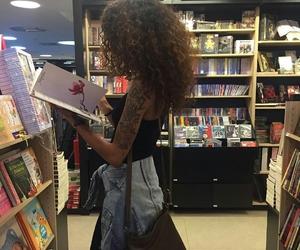 books, tattoo, and girl image