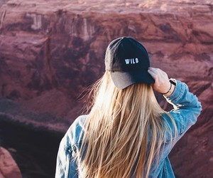 hair, girl, and wild image