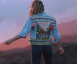 bohemian, california, and denim jacket image