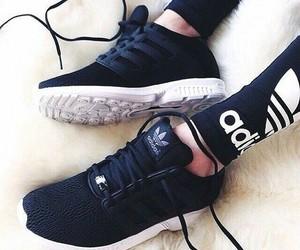 adidas black white image