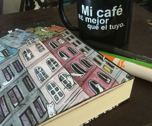 cafe, cats, and coffee image
