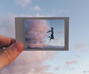sky, photography, and polaroid image
