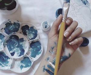 blue, art, and aesthetic image