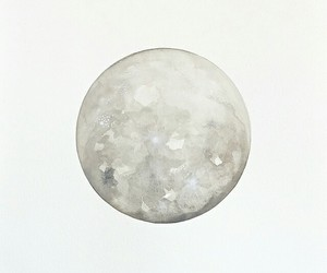 art, moon, and watercolor image