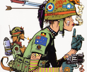 tank girl, comic, and cartoon image
