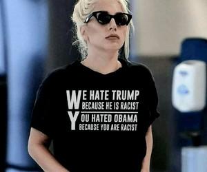 Lady gaga, trump, and obama image