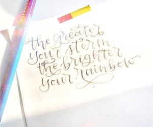 calligraphy, hope, and lettering image