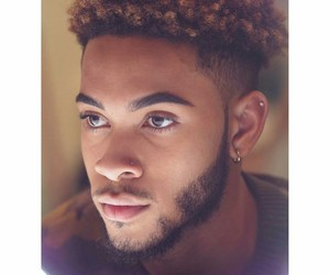 beard, beautiful, and earring image