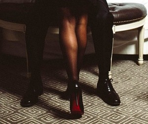 couple, black, and shoes image