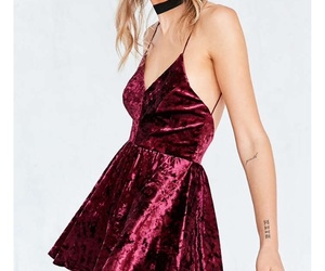 burgundy, dress, and red image