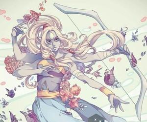 opal, steven universe, and art image