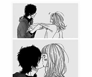 cute, kiss, and couple image