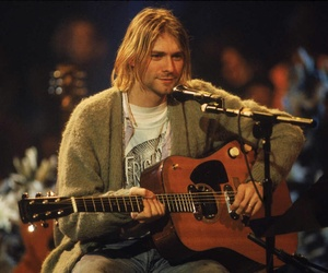 kurt cobain, nirvana, and guitar image