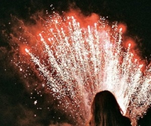 fireworks, girl, and forth of july image