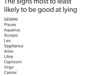 astrology, gemini, and lie image