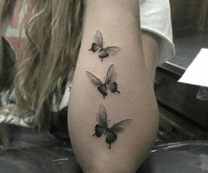 black, butterfly, and mariposa image