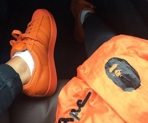orange, adidas, and shoes image