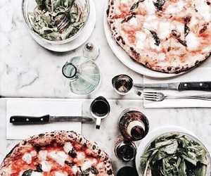 food, pizza, and green image