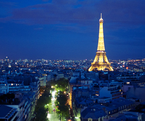 city, eiffel tower, and france image