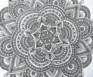 doodle, drawing, and mandala image