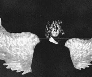 black and white, wings, and sex god image
