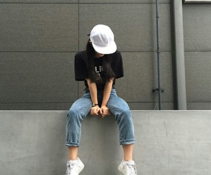 casual, girl, and outfits image
