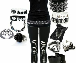 accessories, black, and emo image