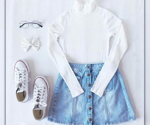 outfit, converse, and cute image