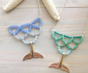 etsy, beaded statement, and ocean jewelry image