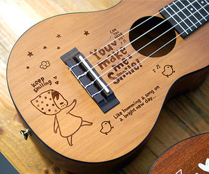 guitar, music, and smile image