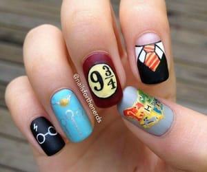 harry potter, nail polish, and nail art image