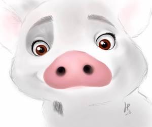 disney, pet pig, and ocean image