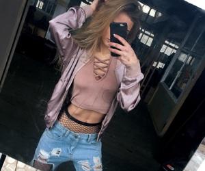 blogger, fashion, and fishnet image