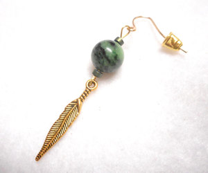 etsy, feather earring, and handmade earring image